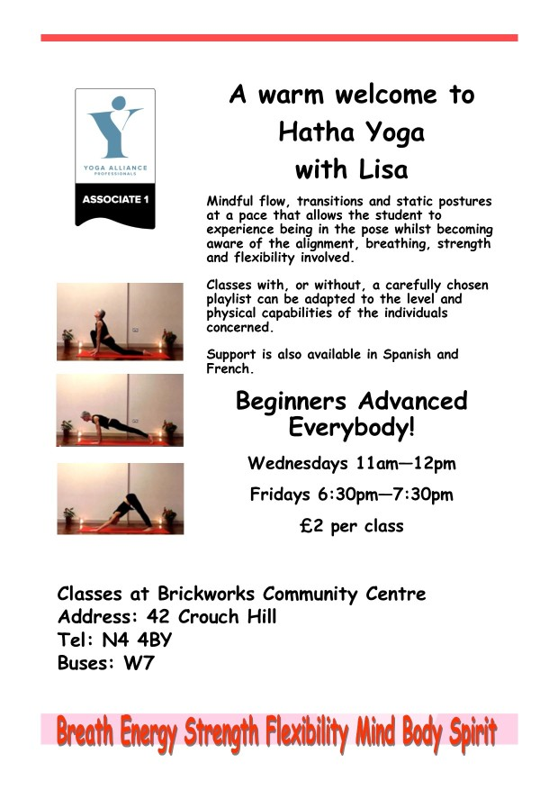 yoga flyer - Lisa