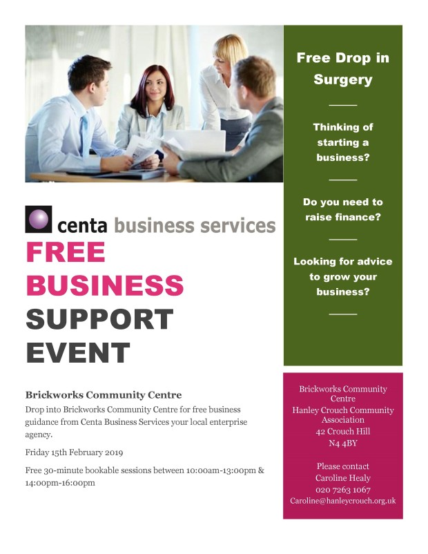 brickworks community centre centa flyer