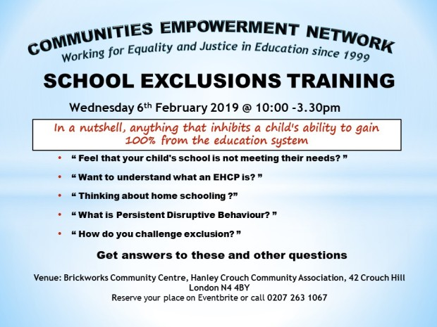 School exclusion training session