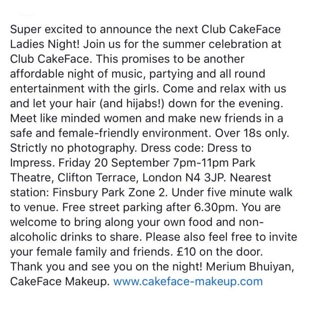 Cake club info