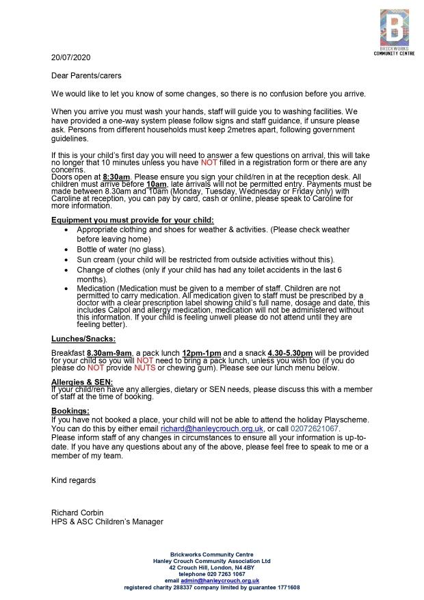 HPS parent arrival letter 2020_page-0001