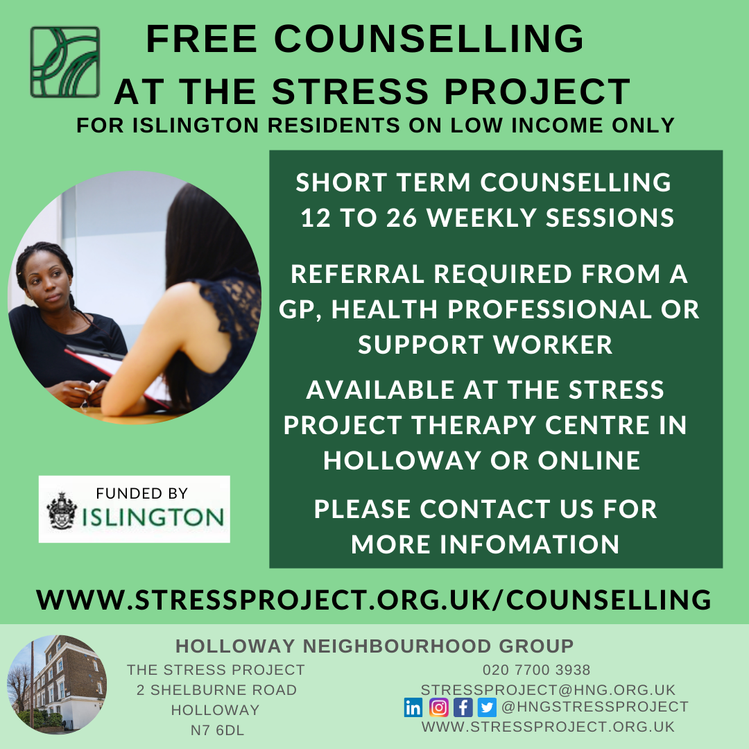 FREE COUNSELLING DRAFT - Islington only