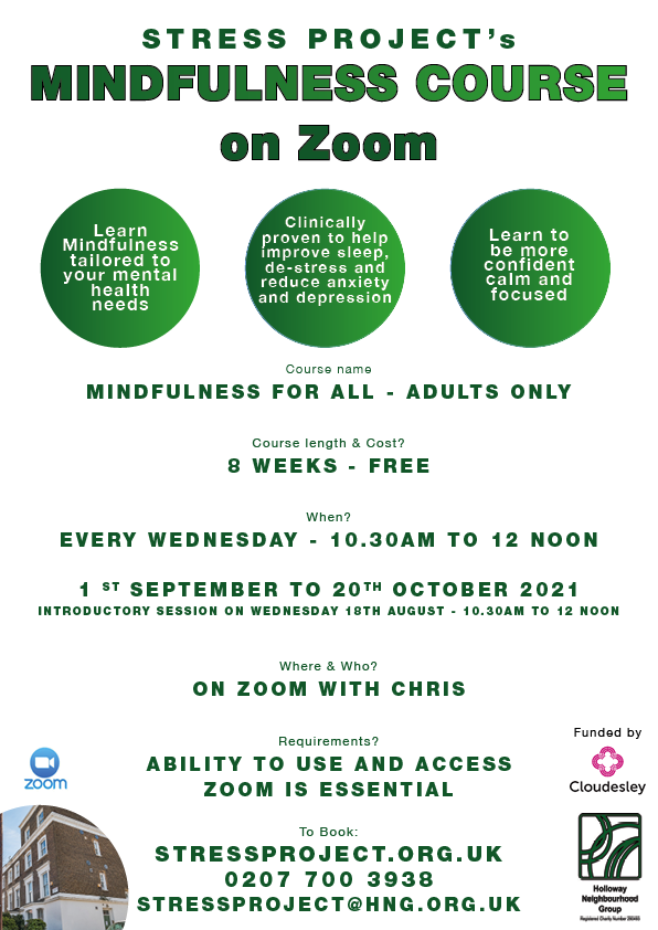 Mindfulness Course Poster august 2021 - Update